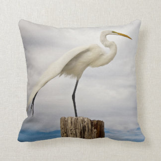 Talented Egret | Fort Myers Beach, Florida Throw Pillow