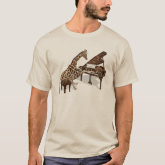 Talented Giraffe Plays Grand Piano T-Shirt