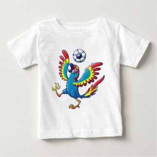 Talented Macaw Bouncing a Soccer Ball on its Head Baby T-Shirt