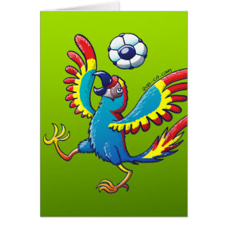 Talented Macaw Bouncing a Soccer Ball on its Head Card