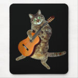 Talented tabby guitar player mousepads