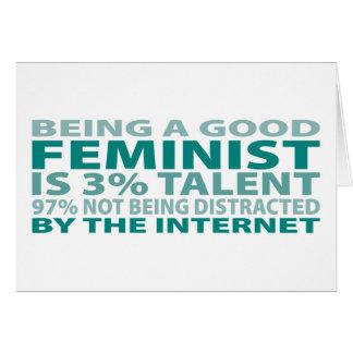 Talento de la feminista el 3% felicitacion