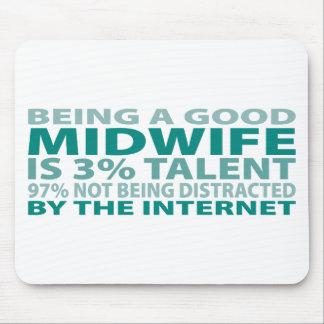 Talento de la partera el 3% tapetes de ratón