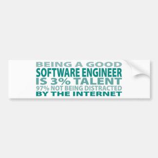 Talento de la Software Engineer el 3% Etiqueta De Parachoque