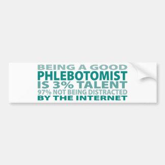 Talento de Phlebotomist el 3% Etiqueta De Parachoque
