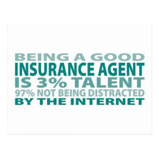 Talento del agente de seguro el 3% postales