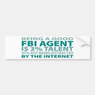 Talento del agente del FBI el 3% Pegatina De Parachoque