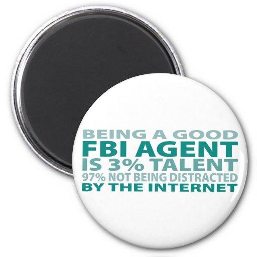 Talento del agente del FBI el 3% Imán Redondo 5 Cm