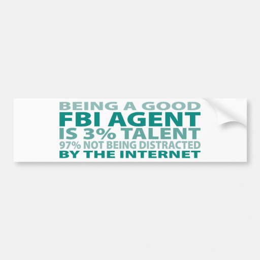 Talento del agente del FBI el 3% Pegatina Para Auto