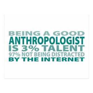 Talento del antropólogo el 3% postales