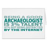 Talento del arqueólogo el 3% felicitaciones