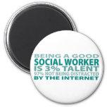 Talento del asistente social el 3% iman de frigorífico