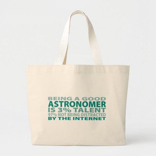Talento del astrónomo el 3% bolsa tela grande