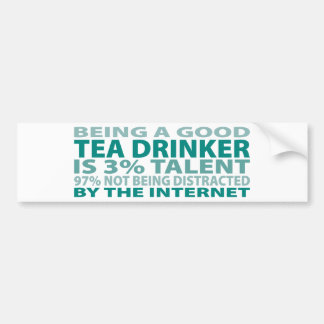 Talento del bebedor el 3% del té pegatina para auto
