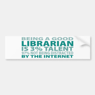 Talento del bibliotecario el 3% etiqueta de parachoque