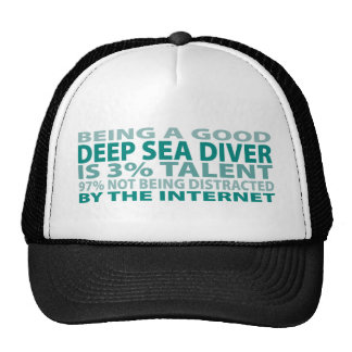 Talento del buceador el 3% del mar profundo gorros bordados