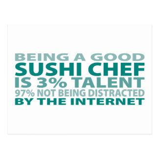 Talento del cocinero de sushi el 3% postales
