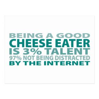 Talento del comedor el 3% del queso postal