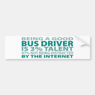 Talento del conductor del autobús el 3% pegatina para auto