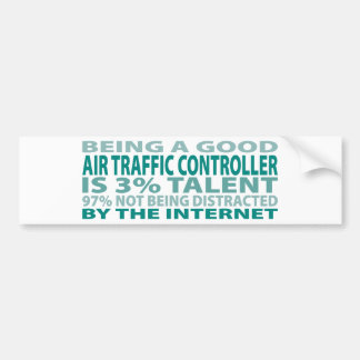 Talento del controlador aéreo el 3% etiqueta de parachoque