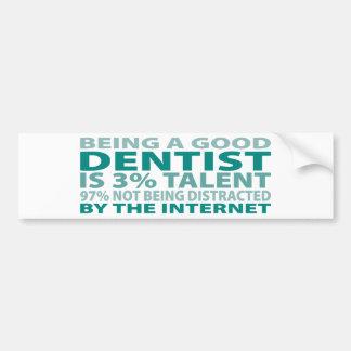 Talento del dentista el 3% etiqueta de parachoque