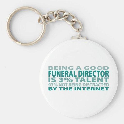 Talento del director de funeraria el 3% llavero personalizado