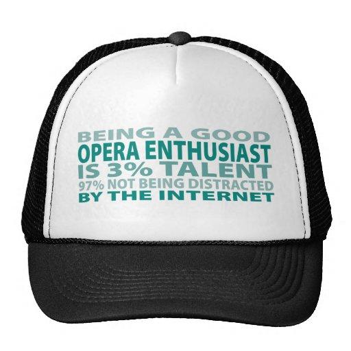Talento del entusiasta el 3% de la ópera gorras