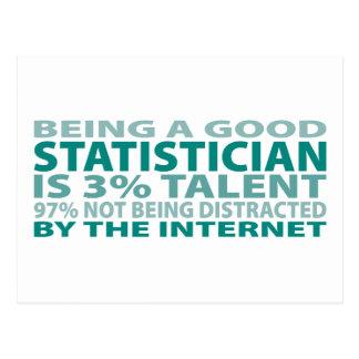 Talento del estadístico el 3% postal