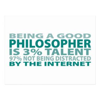 Talento del filósofo el 3% postales