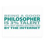 Talento del filósofo el 3% tarjetas postales
