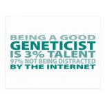 Talento del genetista el 3% postales