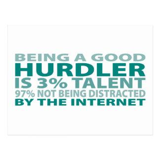 Talento del Hurdler el 3% Tarjeta Postal