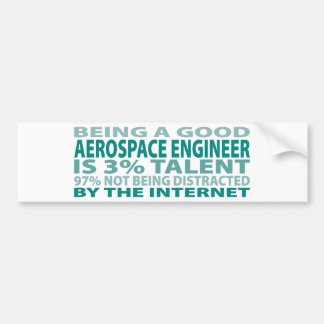 Talento del ingeniero aeroespacial el 3% pegatina de parachoque
