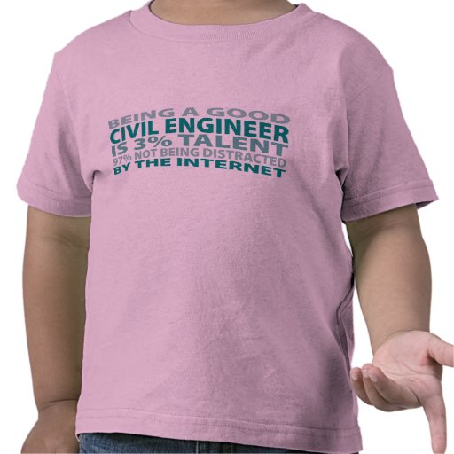 Talento del ingeniero civil el 3% camiseta