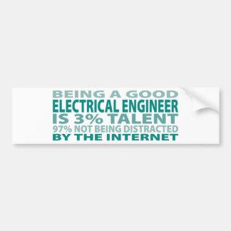 Talento del ingeniero eléctrico el 3% pegatina de parachoque