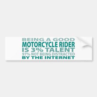 Talento del jinete el 3% de la motocicleta etiqueta de parachoque