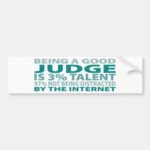 Talento del juez el 3% pegatina de parachoque