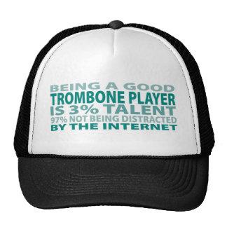 Talento del jugador de Trombone el 3% Gorras De Camionero