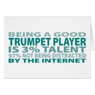 Talento del jugador de trompeta el 3% tarjeta de felicitación