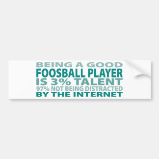 Talento del jugador el 3% de Foosball Etiqueta De Parachoque