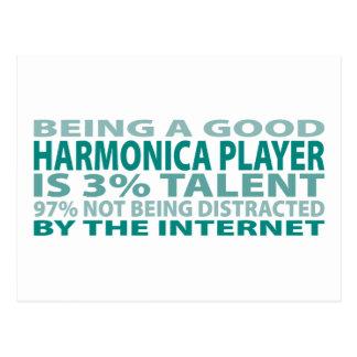 Talento del jugador el 3% de la armónica postal
