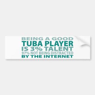 Talento del jugador el 3% de la tuba etiqueta de parachoque