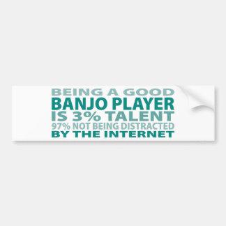 Talento del jugador el 3% del banjo pegatina de parachoque