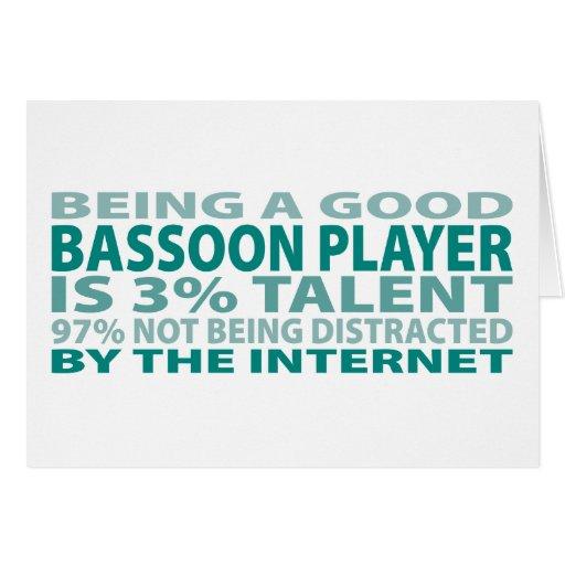Talento del jugador el 3% del Bassoon Tarjetas