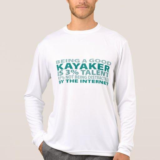 Talento del Kayaker el 3% Camisetas
