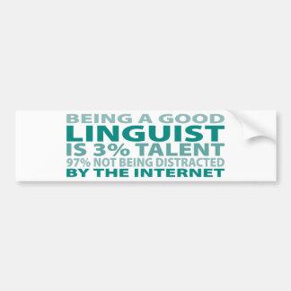 Talento del lingüista el 3% pegatina de parachoque