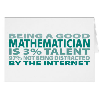 Talento del matemático el 3% tarjeta de felicitación
