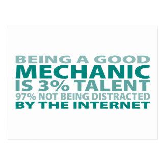 Talento del mecánico el 3% postales