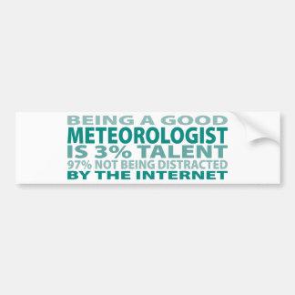 Talento del meteorólogo el 3% etiqueta de parachoque