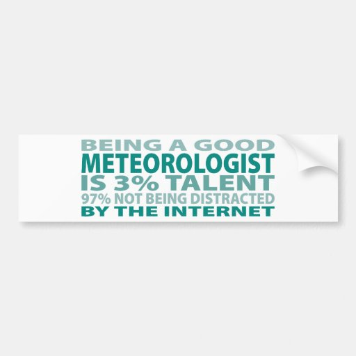 Talento del meteorólogo el 3% pegatina para auto